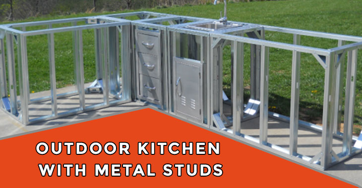 Build an Outdoor Kitchen with Metal Studs