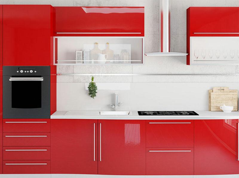 Cherry Wood Parallel Kitchen Design